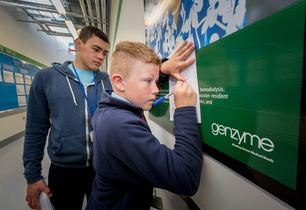 Genzyme – Paired Science TripOur classroom takes many forms – Science trip to Genzyme